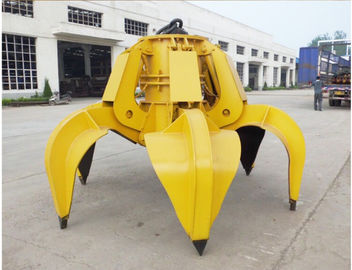 360 Degree Rotation Compact Excavator Attachments Professional Design Jaw Curve